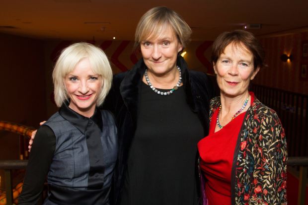 <p>Jane Horrocks (Regan), Deborah Warner (director) and Celia Imrie (Goneril)</p><br />© Dan Wooller, 2016