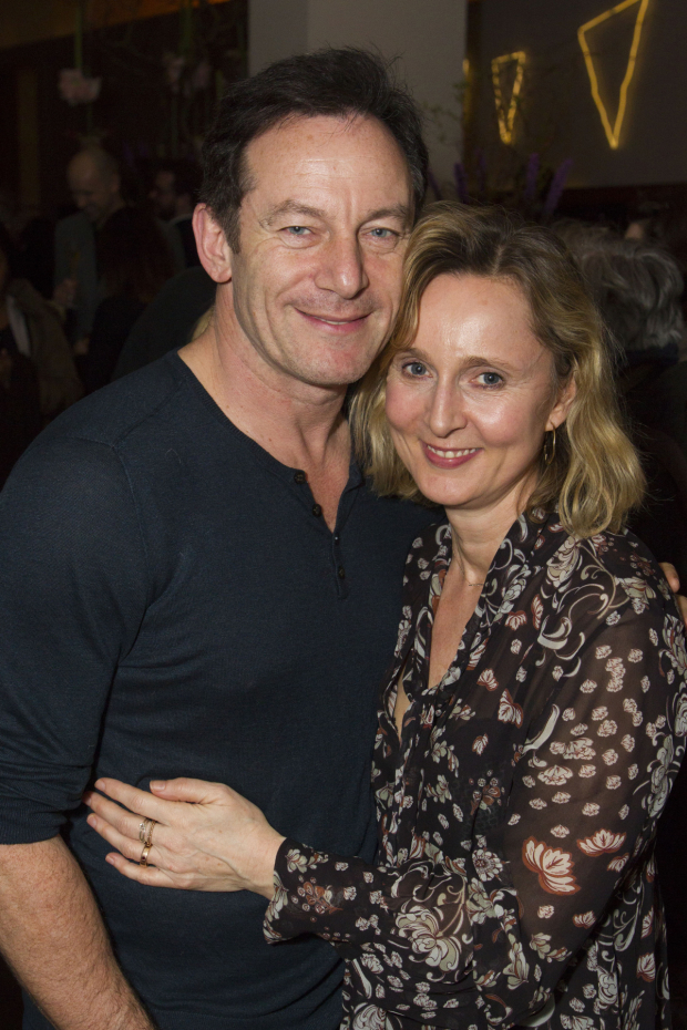 <p>Jason Isaacs and Emma Hewitt</p><br />© Dan Wooller for WhatsOnStage