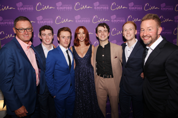 <p>Jeff Pope, Bill Caple (Ringo Starr), Michael Hawkins (John Lennon), Kara Lily Hayworth (Cilla), Joshua Gannon (Paul McCartney) Alex Harford and Robert Willis</p><br />© Matt Martin