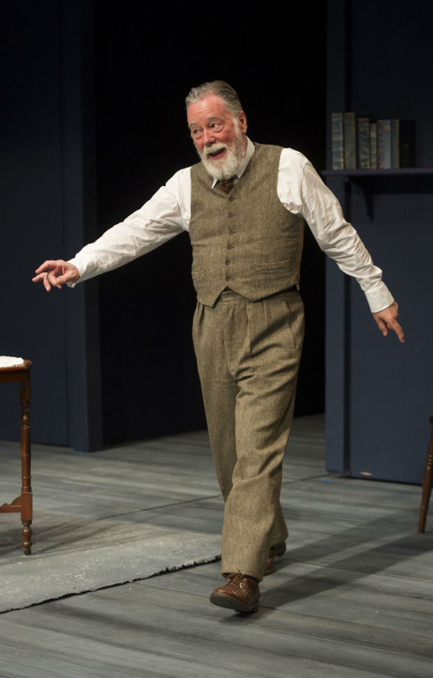 <p>Jeff Rawle (George Bernard Shaw) in <em>Lawrence After Arabia</em></p><br />© Alastair Muir
