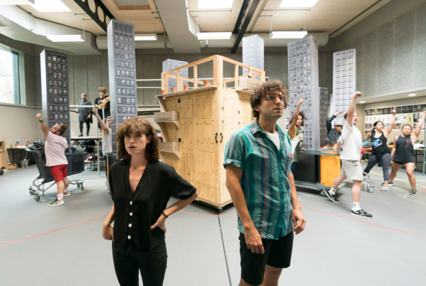 <p>Jemima Rooper and Marc Antolin (Audrey and Seymour)</p><br />© Johan Persson