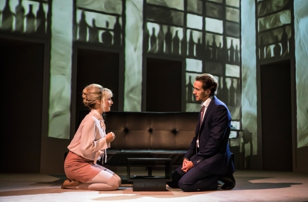 <p>Jennifer Harding and Oliver Savile in <em>Company</em></p><br />© Pamela Raith