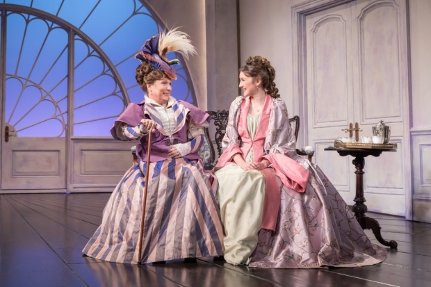<p>Jennifer Saunders and Grace Molony in <em>Lady Windermere&#39&#x3B;s Fan</em></p><br />© Marc Brenner