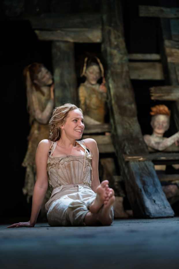 <p>Jenny Rainsford as Miranda in <em>The Tempest</em></p><br />Topher McGrillis © RSC