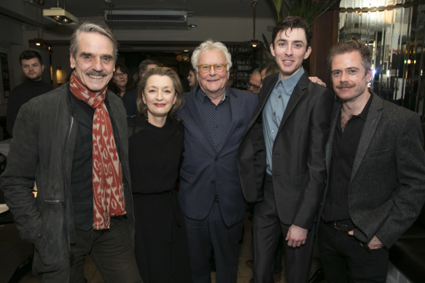 <p>Jeremy Irons, Lesley Manville, Richard Eyre, Matthew Beard and Rory Keenan</p><br />© Dan Wooller for WhatsOnStage
