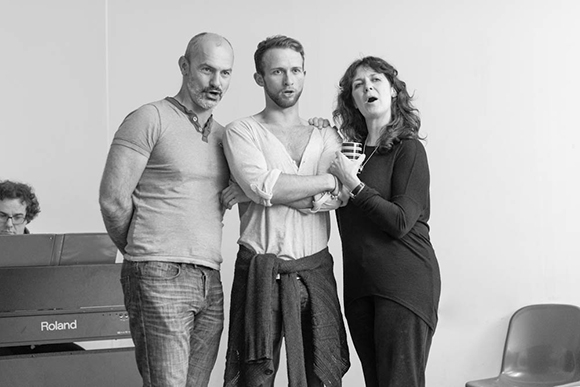 <p>Jérôme Pradon, Joel Harper-Jackson and Helen Hobson</p><br />© Jamie Scott-Smith