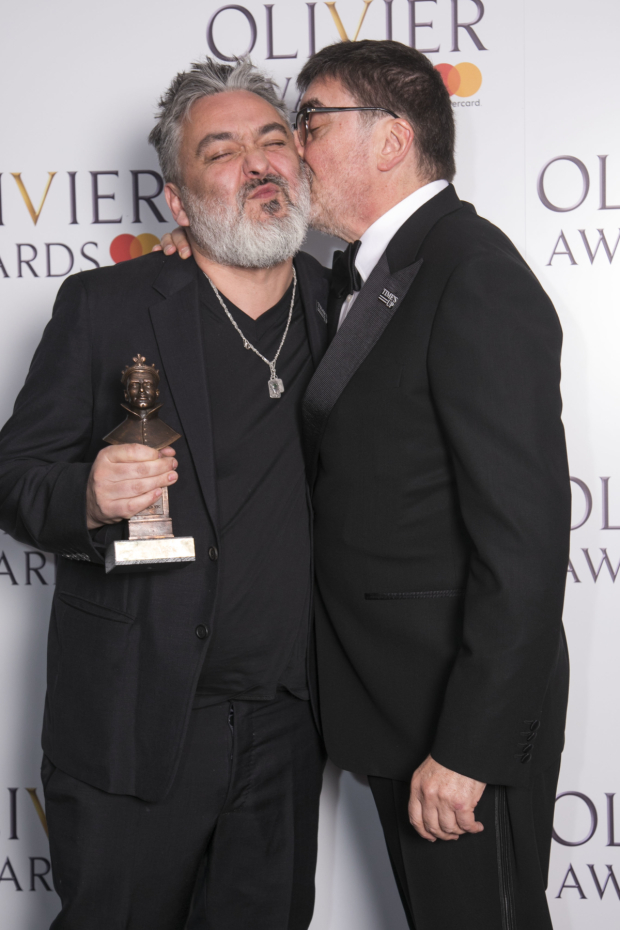 <p>Jez Butterworth with Alfred Molina</p><br />© Dan Wooller