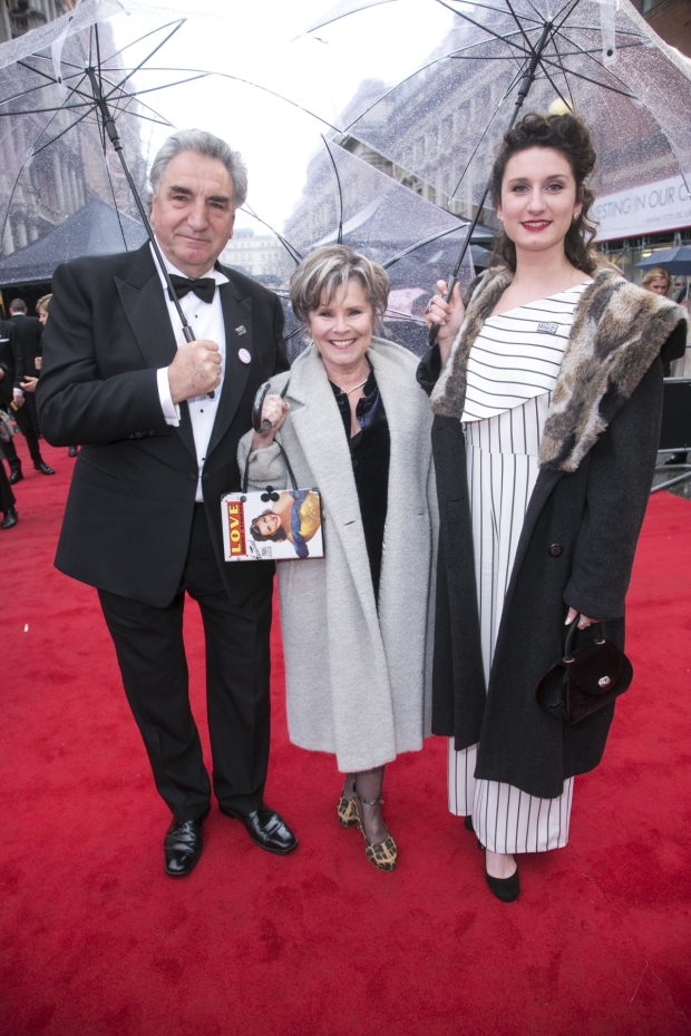<p>Jim Carter, Imelda Staunton and Bessie Carter</p><br />© All images are copyright Dan Wooller, 2018