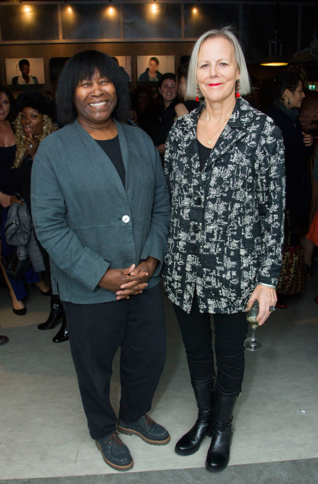 <p>Joan Armatrading and director Phyllida Lloyd</p><br />© Dan Wooller for WhatsOnStage, 2016