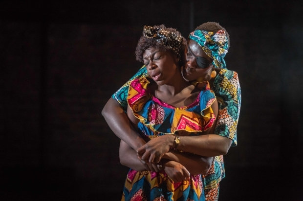 <p>Joan Iyiola and Anna-Maria Nabirye in <em>They Drink It in the Congo</em></p><br />© Marc Brenner