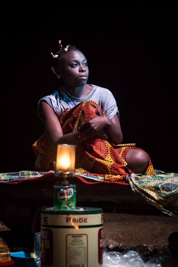<p>Joan Iyiola in <em>They Drink It in the Congo</em></p><br />© Marc Brenner