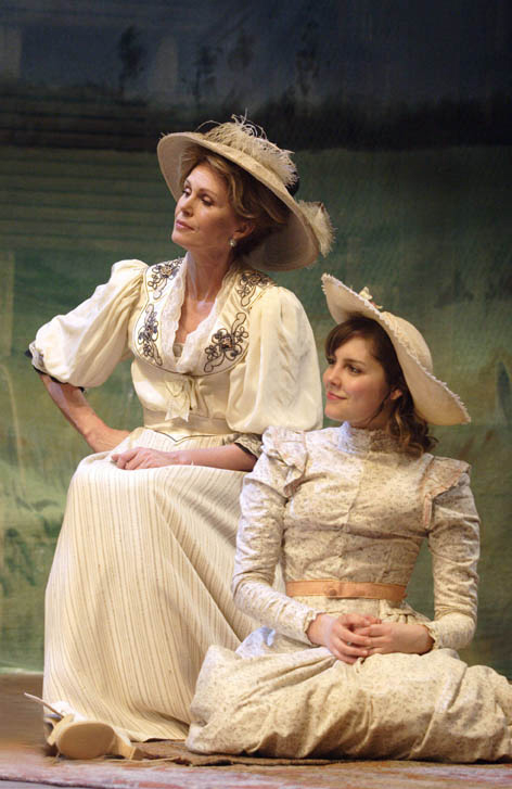<p>Joanna Lumley as Madame Ranevskaya and Annabel Scholey as Anya in <em>The Cherry Orchard</em> (2007)</p><br />© Catherine Ashmore