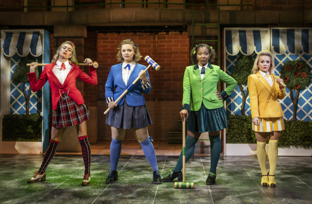 <p>Jodie Steele (Heather Chandler), Carrie Hope Fletcher (Veronica Sawyer), T&#39&#x3B;Shan Williams (Heather Duke) and Sophie Isaacs (Heather McNamara)</p><br />© Pamela Raith