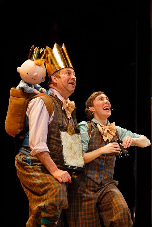 <p>Joe Hall (King-Derek) and Lucy Tuck (Queen-Vanessa) in <em>Sleeping Beauty</em> at the Bristol Old Vic </p><br />(c) Steve Tanner