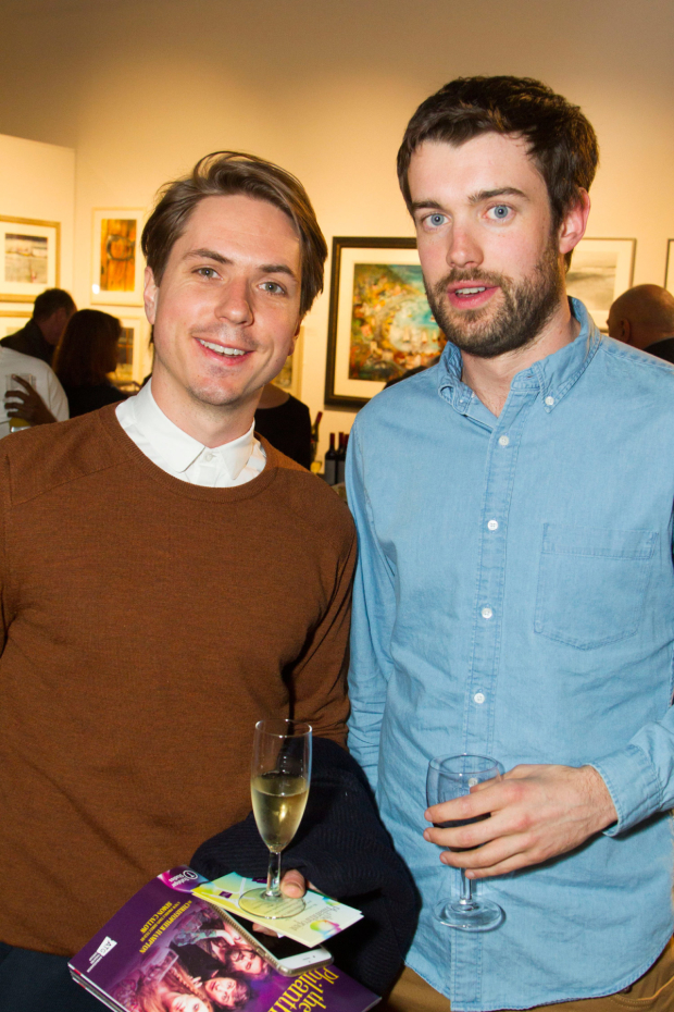 <p>Joe Thomas and Jack Whitehall</p><br />© Dan Wooller for WhatsOnStage