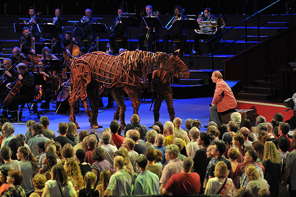 <p>Joey and Michael Morpurgo at the <em>War Horse</em> Prom, BBC Proms 2014.</p><br />© BBC/Chris Christodoulou