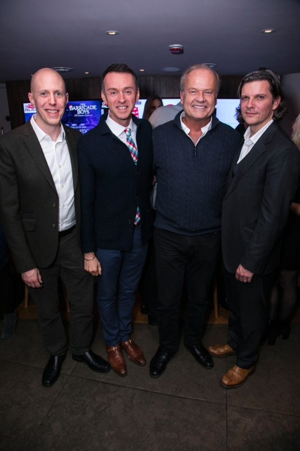 <p>John August (author), Andrew Lippa (music/lyrics), Kelsey Grammer (Edward Bloom) and Nigel Harman (director)</p><br />© Dan Wooller for WhatsOnStage