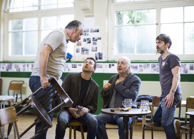 <p>John Hodgkinson (Pierrepoint), Graham Hawley (Bill), Simon Rouse (Arthur) and Ryan Pope (Charlie)</p><br />© Johan Persson