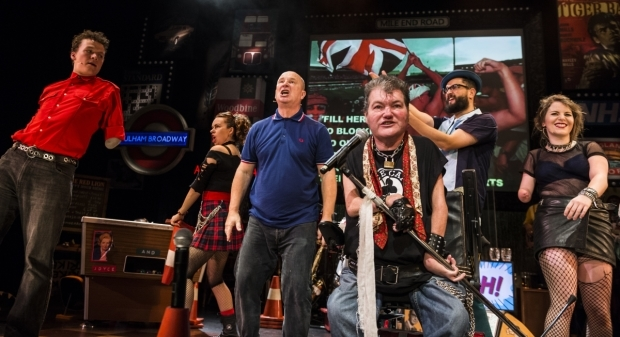 <p>John Kelly and the cast of <em>Reasons to be Cheerful</em></p><br />© Patrick Baldwin