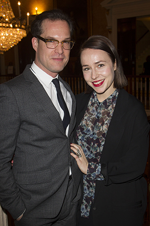 <p>John Light (Dr Conrad) and Sarah Goldberg</p><br />Dan Wooller for WhatsOnStage