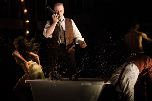 <p>John Owen-Jones as Burrs in <em>The Wild Party</em></p><br />© Scott Rylander