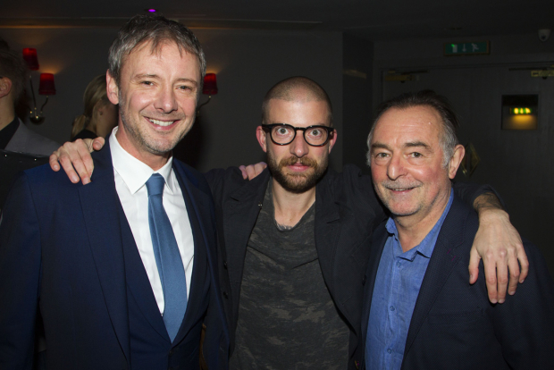 <p>John Simm (Lenny), Jamie Lloyd and Ron Cook (Max)</p><br />© Dan Wooller for WhatsOnStage