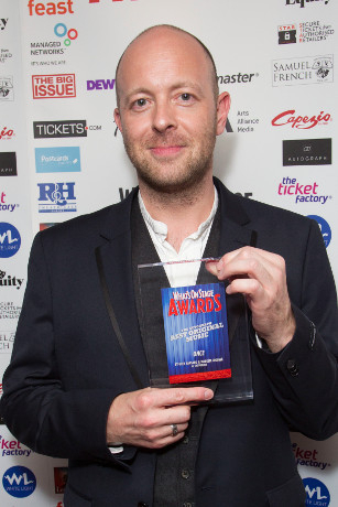 <p>John Tiffany accepts the Award for Best Original Music for <em>Once</em></p><br />© Dan Wooller for WhatsOnStage