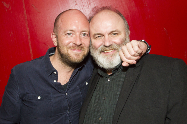 <p>John Tiffany (director) and Jim Cartwright (writer)</p><br />@ Dan Wooller for WhatsOnStage
