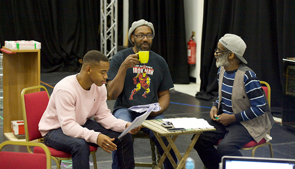 <p>Joivan Wade, Lenny Henry and Larrington Walker</p><br />© Elliott Franks