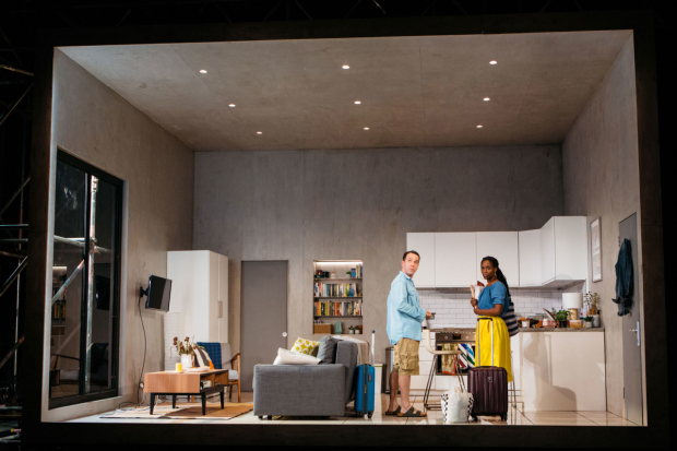 <p>Jonjo O'Neill and Sharon Duncan-Brewster in <em>Victory Condition</em></p><br />© Helen Murray