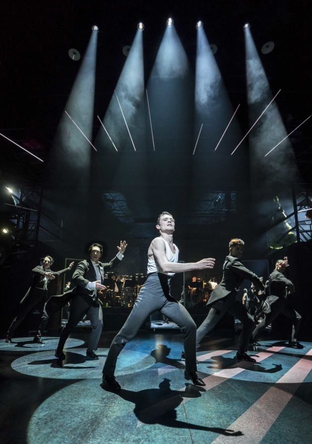 <p>Jonny Labey and the company of Strictly Ballroom</p><br />© Johan Persson
