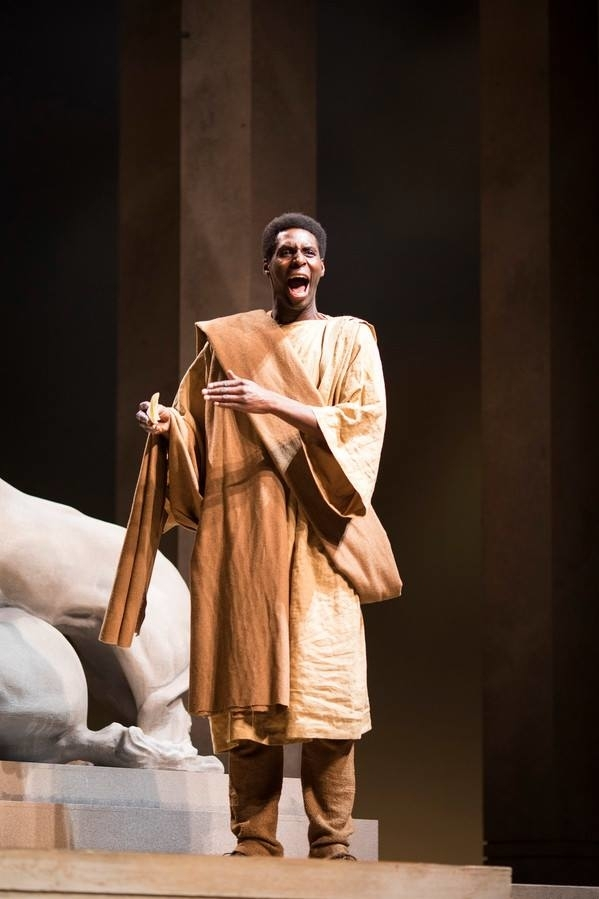 <p>Joseph Adelakun as Artemidorus</p><br />© Helen Maybanks