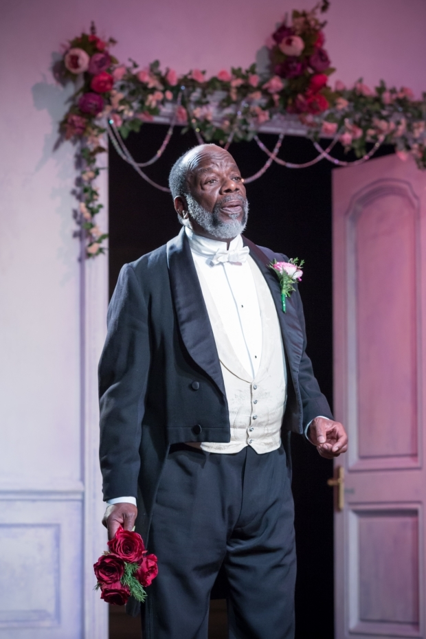 <p>Joseph Marcell in <em>Lady Windermere&#39&#x3B;s Fan</em></p><br />© Marc Brenner
