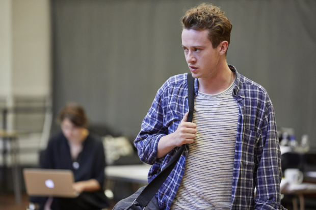 <p>Joseph Quinn in rehearsals for <em>Mosquitoes</em></p><br />© Brinkhoff/Moegenburg