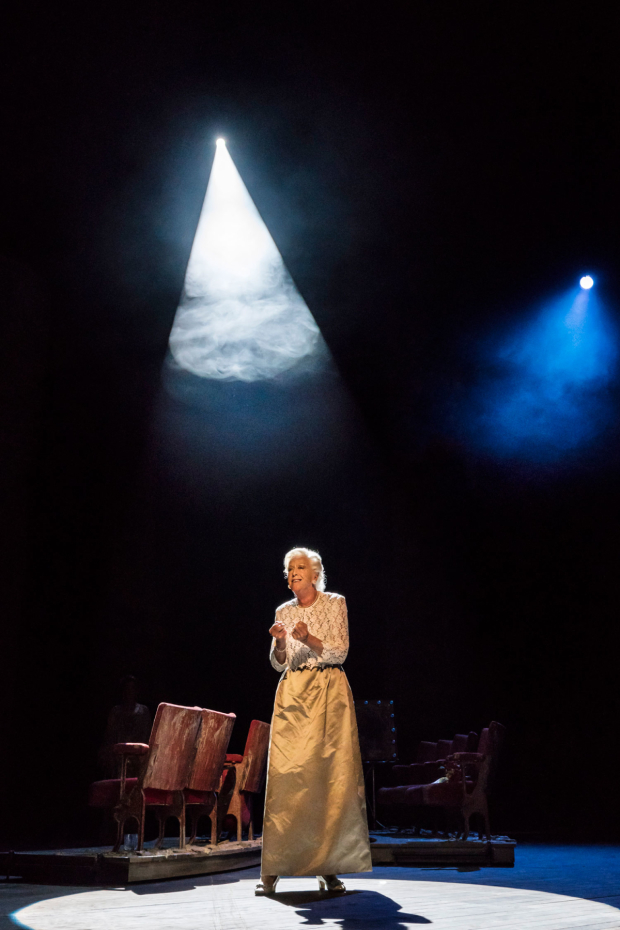 <p>Josephine Barstow as Heidi Schiller in <em>Follies</em> at the National Theatre</p><br />© Johan Persson