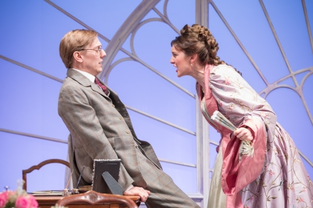 <p>Joshua James and Grace Molony in <em>Lady Windermere&#39&#x3B;s Fan</em></p><br />© Marc Brenner
