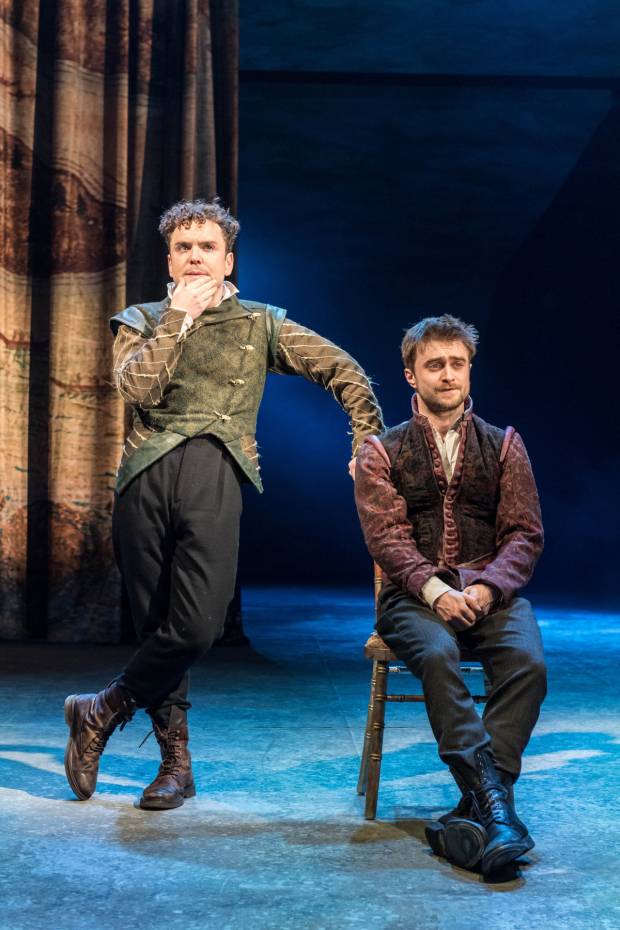 <p>Joshua McGuire (Guildenstern) and Daniel Radcliffe (Rosencrantz) in <em>Rosencrantz &amp&#x3B; Guildenstern Are Dead</em></p><br />© Manuel Harlan