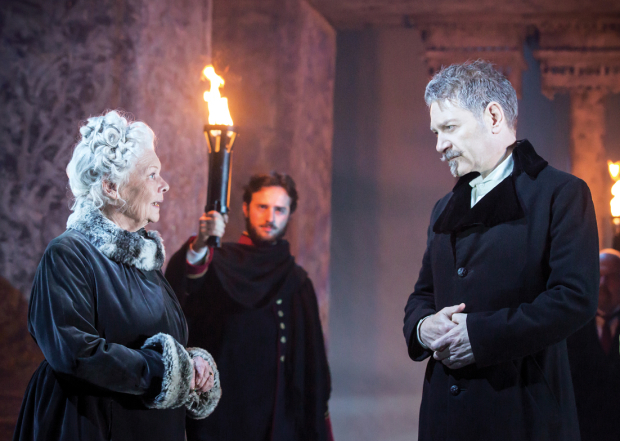 <p>Judi Dench (Paulina) and Kenneth Branagh (Leontes)</p><br />© Johan Persson