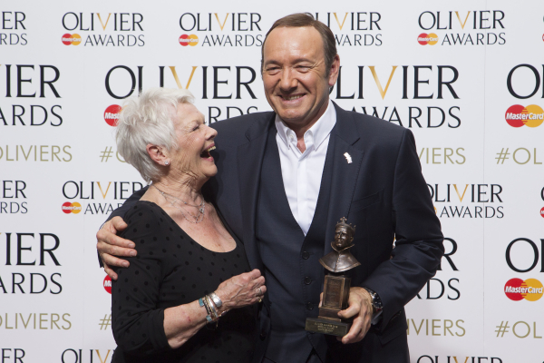 <p>Judi Dench with Kevin Spacey, who won a Special Award</p><br />© Dan Wooller