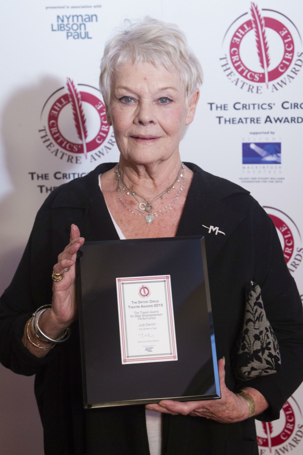 <p>Judi Dench won best Shakespearean performance for Paulina in <em>The Winter&#39&#x3B;s Tale</em></p><br />© Dan Wooller