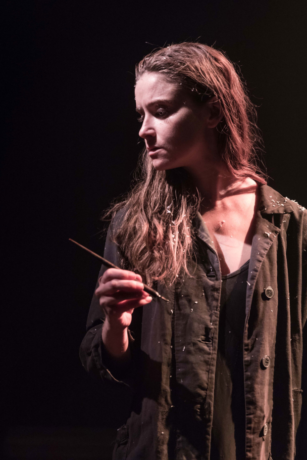 <p>Judith Roddy (Young Woman) in <em>Knives in Hens</em></p><br />© Marc Brenner