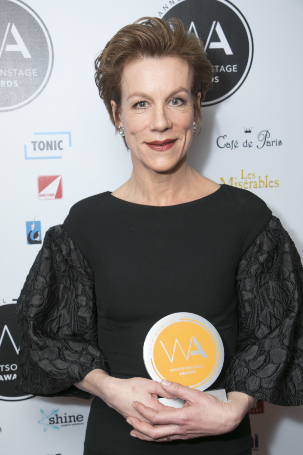 <p>Juliet Stevenson, who won the WhatsOnStage Award for Best Supporting Actress in a Play</p><br />© Dan Wooller for WhatsOnStage
