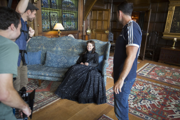 <p>Kara Tointon Behind the scenes at the <em>Twelfth Night</em> photoshoot</p><br />© RSC / photo by Andrew Fox