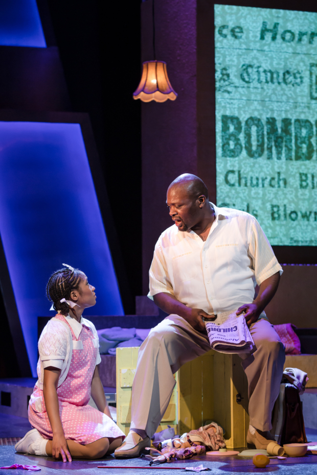 <p>Karis Jack (Young Viveca) &amp&#x3B; Trevor A Toussaint (Daddy) in <em>The Bubbly Black Girl Sheds Her Chameleon Skin</em></p><br />© Scott Rylander