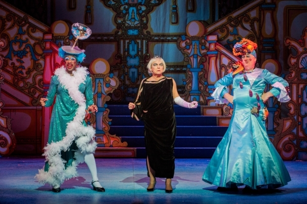 <p>Kat B and Tony Whittle (the Ugly Sisters), Susie McKenna  (Wicked Stepmother)</p><br />© Robert Workman