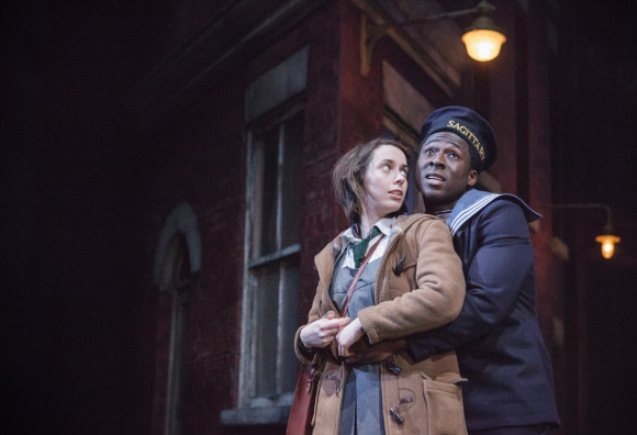 <p>Kate O'Flynn (Jo) and Eric Kofi Abrefa (Jimmie)</p><br />© Marc Brenner