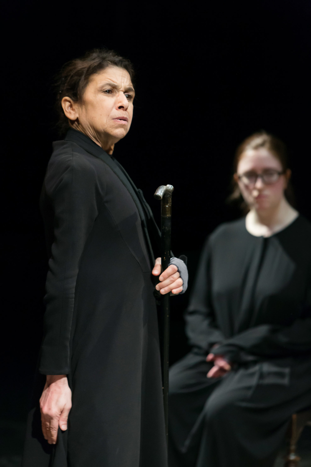 <p>Kathryn Hunter and Kellan Frankland in <em>The House of Bernarda Alba</em></p><br />©Jonathan Keenan