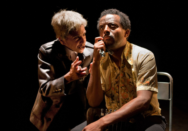 <p>Kathryn Hunter and Temesgen Zeleke in <em>The Emperor</em> at the Young Vic</p><br />© Simon Annand