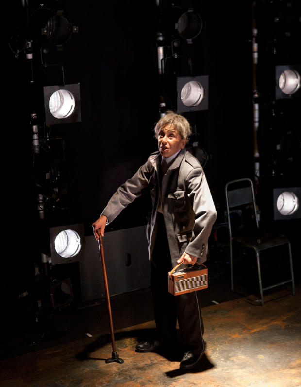 <p>Kathryn Hunter in <em>The Emperor</em> at the Young Vic</p><br />© Simon Annand