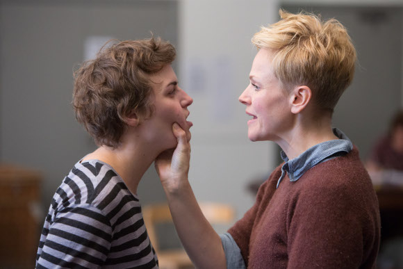<p>Katie West as Ophelia and Maxine Peake as Hamlet</p><br />© Jonathan Keenan